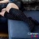 Schwarze Stützstrümpfe mit bunten Punkten, Baumwolle, im xunt Onlineshop