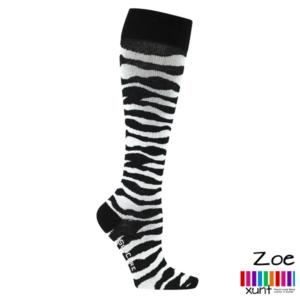 Stützstrümpfe Zebra-Muster, Baumwolle, im xunt Onlineshop