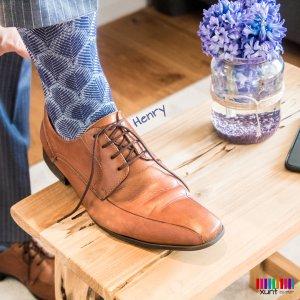 Blaue Stützstrümpfe für Herren mit Muster im xunt Onlineshop