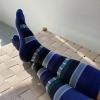 Blau-gestreifte Stützstrümpfe, Baumwolle, im xunt Onlineshop