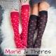 Stützstrumpfset Rot und Schwarz mit Herzen Valentinstag Muttertag